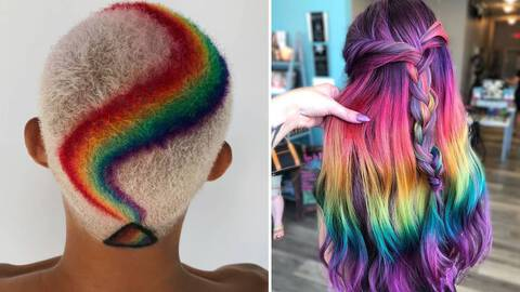 22 Rainbow Hair Ideas To Get If You Re Looking To Go Bold Hair Com By L Oreal