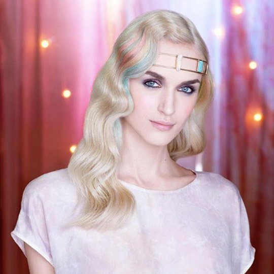 festival hairstyles Hollywood waves and headband