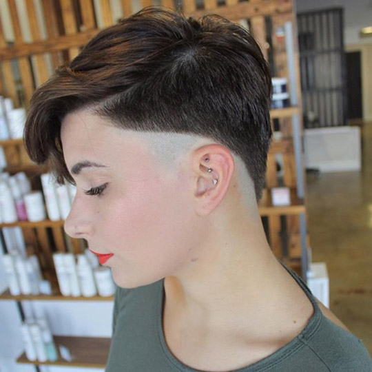 Androgynous tapered undercut