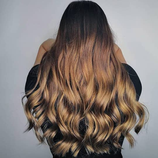 ombre hair espresso and blonde