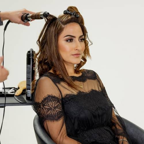 woman holiday hair