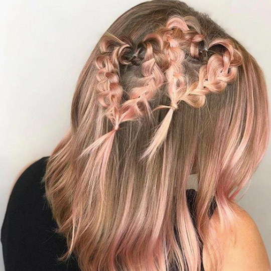 festival hairstyles rosy hearts