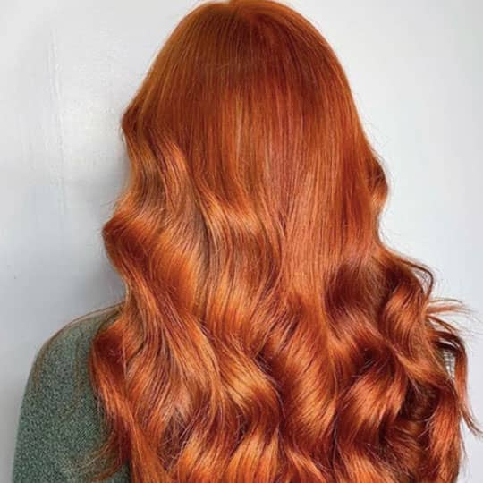 woman with ginger red hair