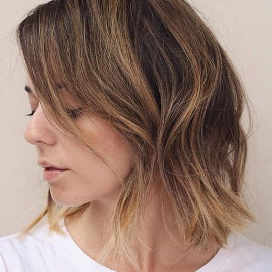 french girl hair with highlights