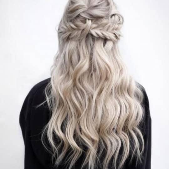 photo of platinum blonde hair color