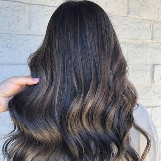 Dark brown mushroom hair