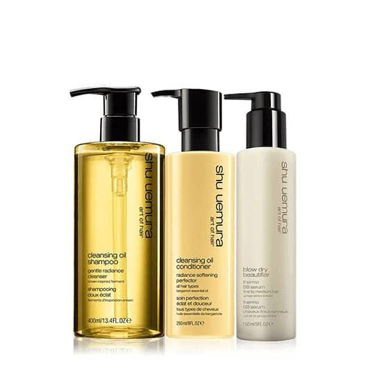 shu uemura art of hair cleansing oil set for fine hair