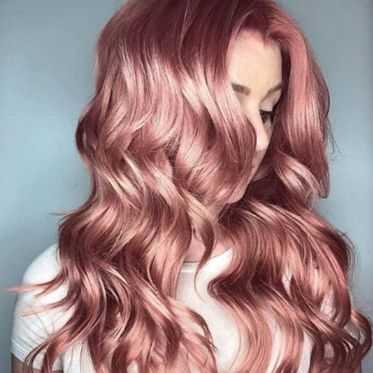 metallic hair color pastel pink
