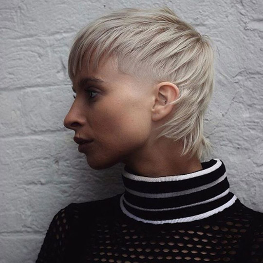 Androgynous pixie mullet