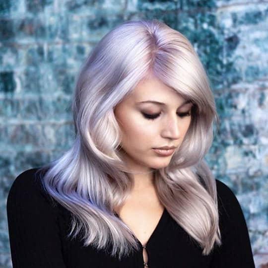 metallic hair color platinum