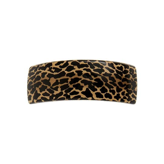 leopard hair barrette