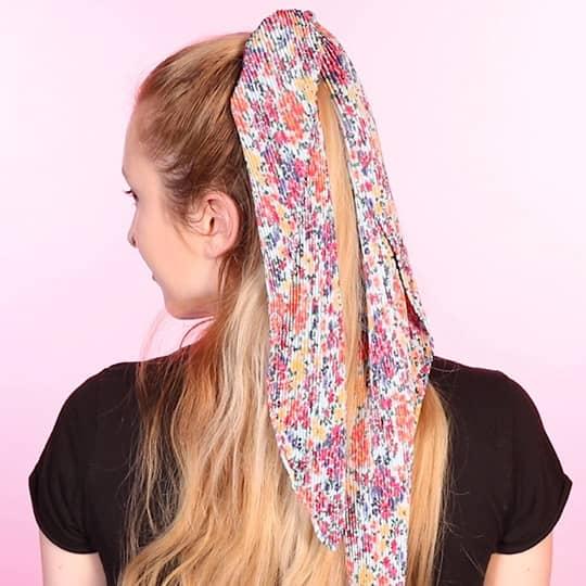 ways to wear hair scarf