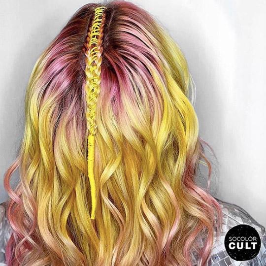 festival hairstyles pink lemonade