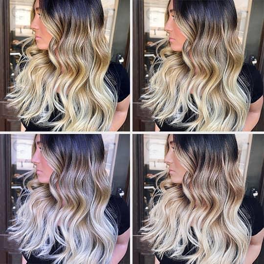 blonde hair color app transformation