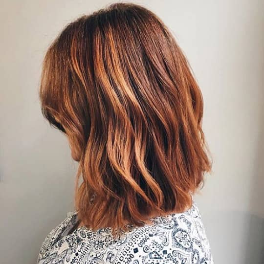 photo of copper hair color