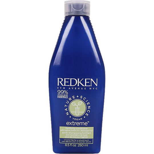 photo of products for hair breakage redken extreme nature + science conditioner
