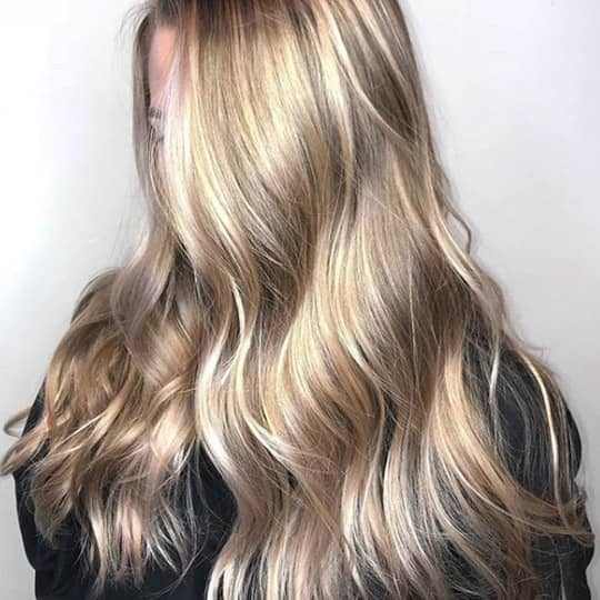 photo of honey and silver balayage