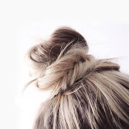 Bed time top knot