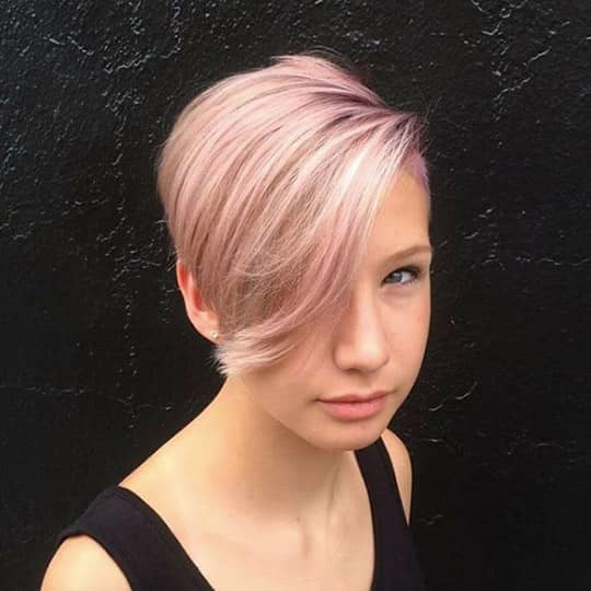 photo of shaved bob hairstyle