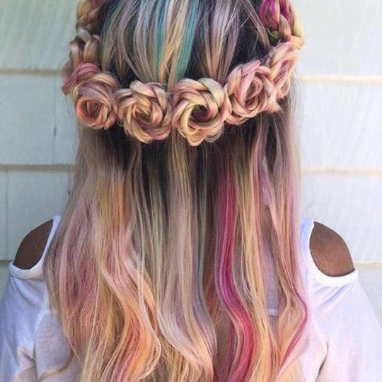 festival hairstyles flower crown