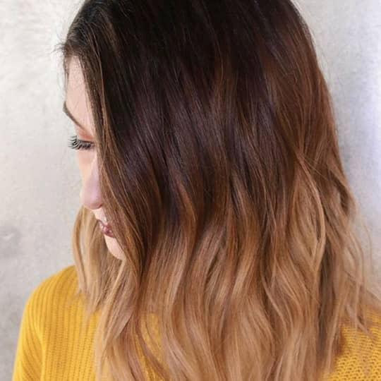 ombre hair auburn and light brown