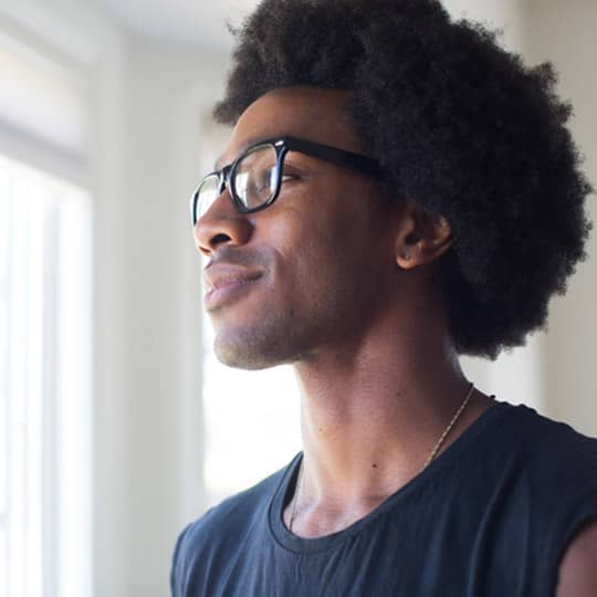 photo of afro hairstyle
