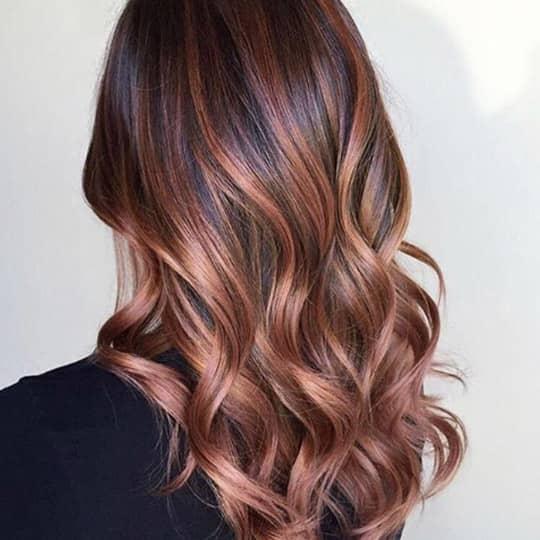 metallic hair color rose brown