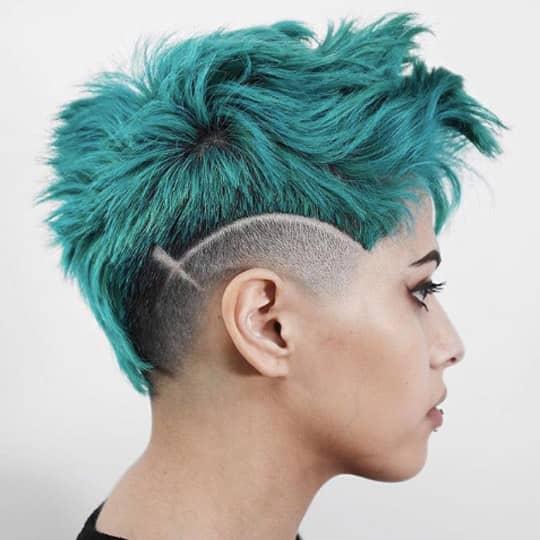 Asymmetrical shaved designs