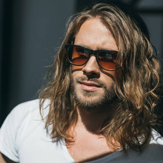 Long Hairstyles For Men - Side Part