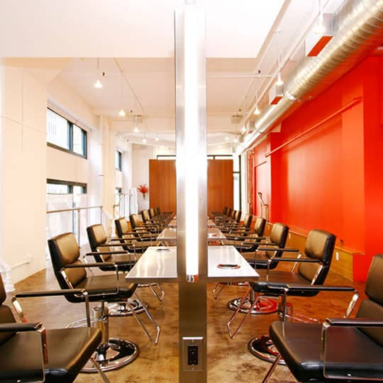 arrojo salon chairs from the side