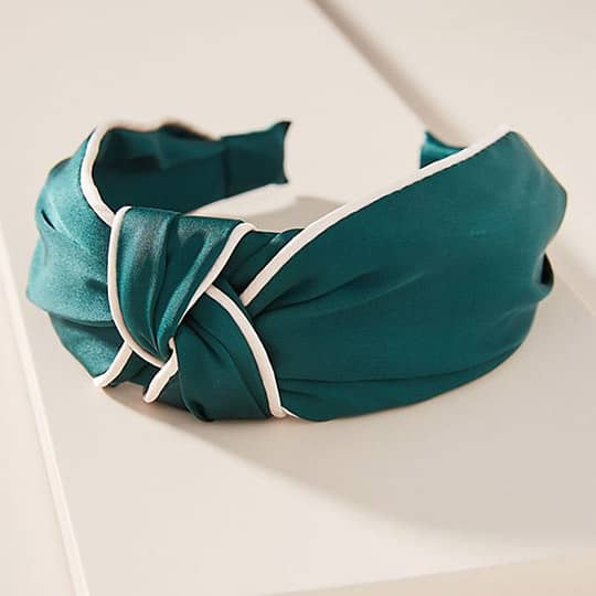 photo of green knotted headband