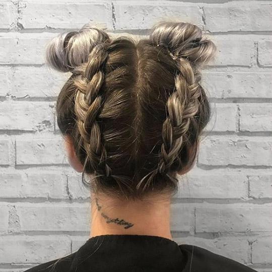 festival hairstyles backwards braided buns