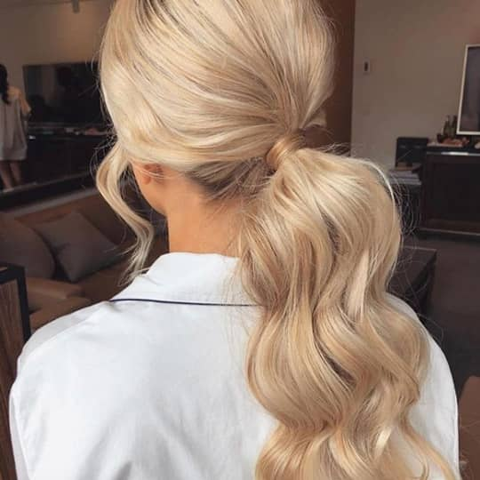 Cream blonde hair color