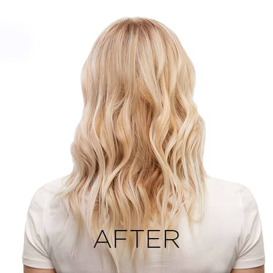 after shot of woman who used matrix so silver