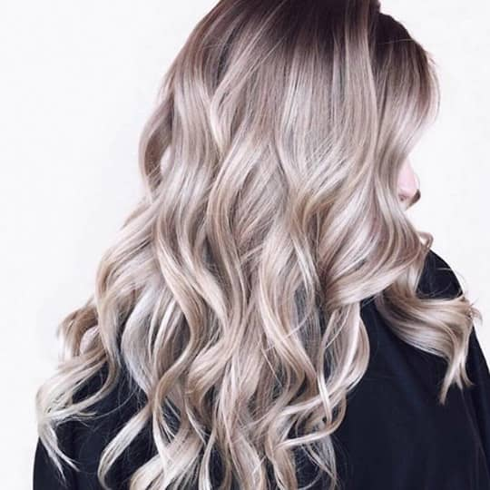 ombre hair brown and ash blonde