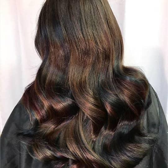metallic hair color oil slick
