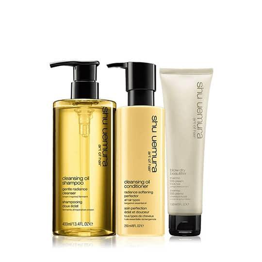 shu uemura cleansing oil set thick hair