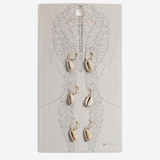 seashell hair rings