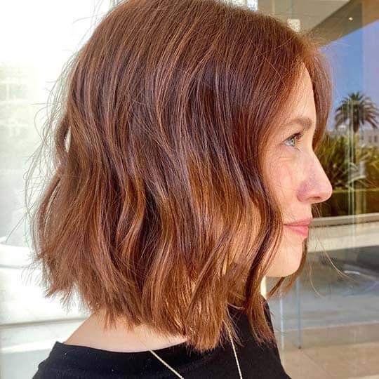 photo of cinnamon hair color using redken shades eq