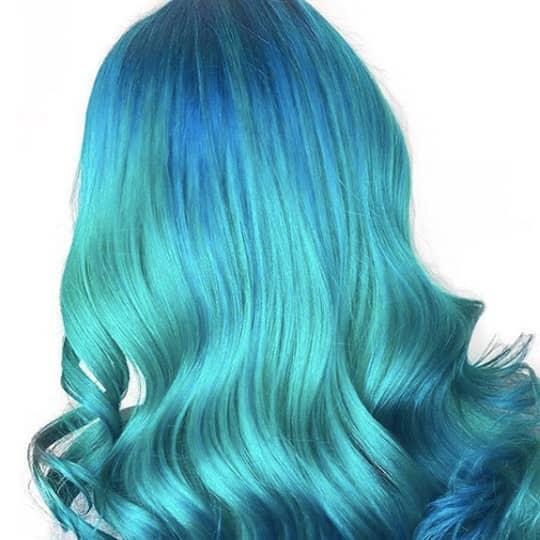 Aqua hair color
