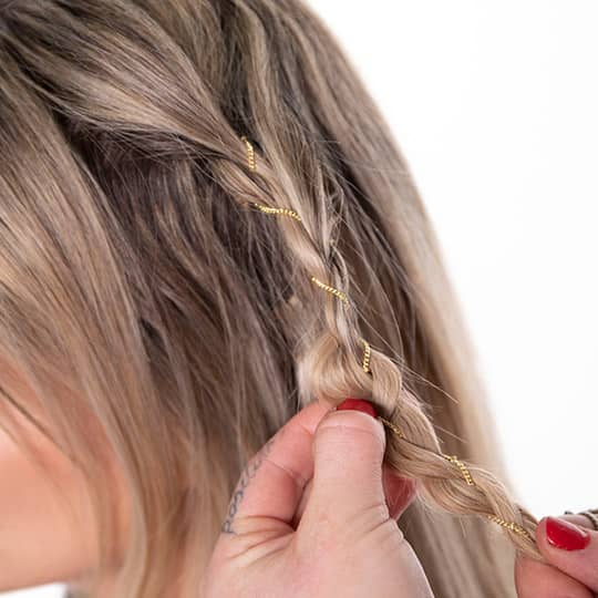 how to style festival chain braid