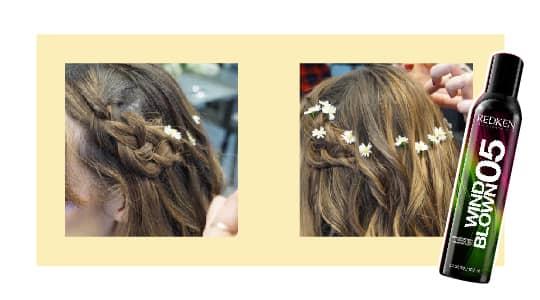 halloween hippie hairstyle