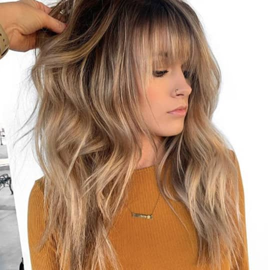 ombre hair brown and blonde