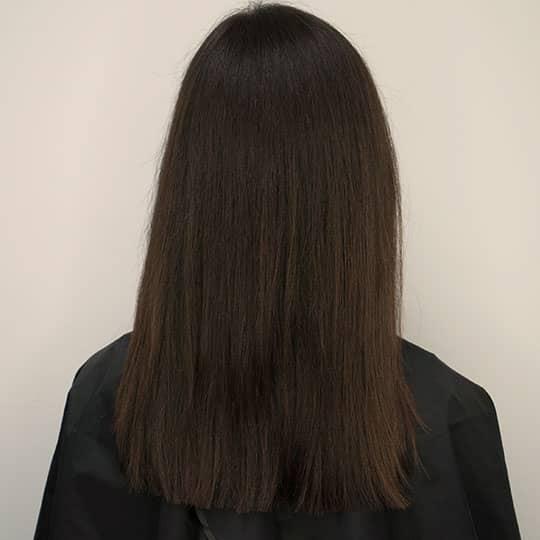 virgin hair seen from the back