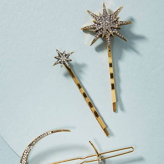 constellation-shaped hair barrettes