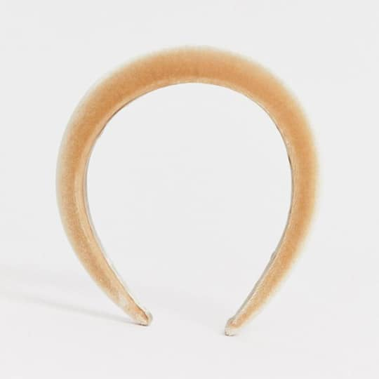 photo of tan padded headband