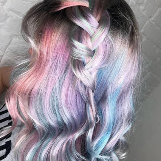 metallic hair color cotton candy