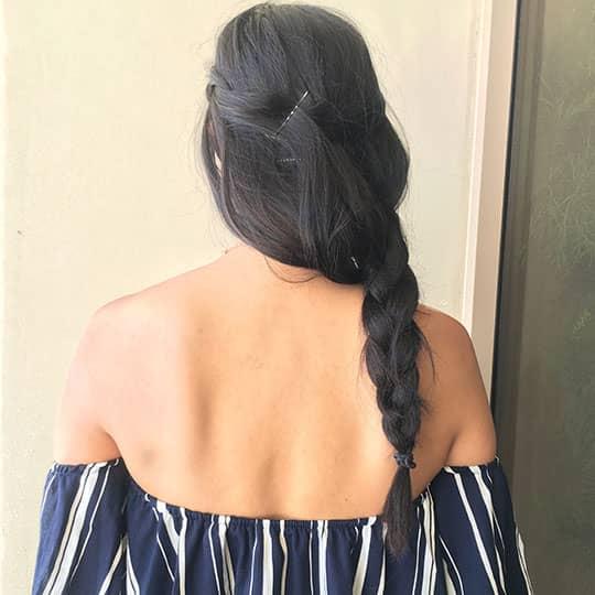 coachella hair side braids