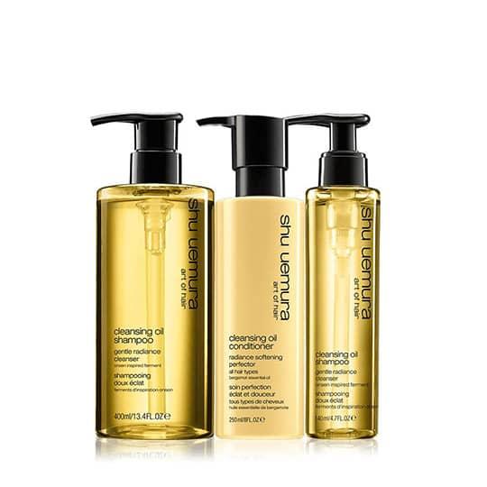 shu uemura art of hair cleansing oil set