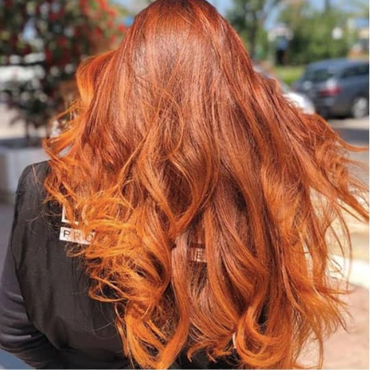 red hair ombre woman